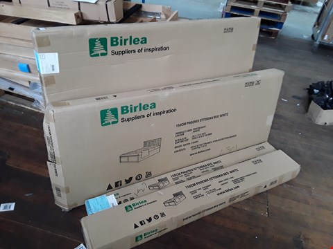 Lot 2116 BOXED 150CM PHOENIX OTTOMAN BED PARTS - WHITE  (BOXES 1/2/3 & 5 OF 5 ONLY)