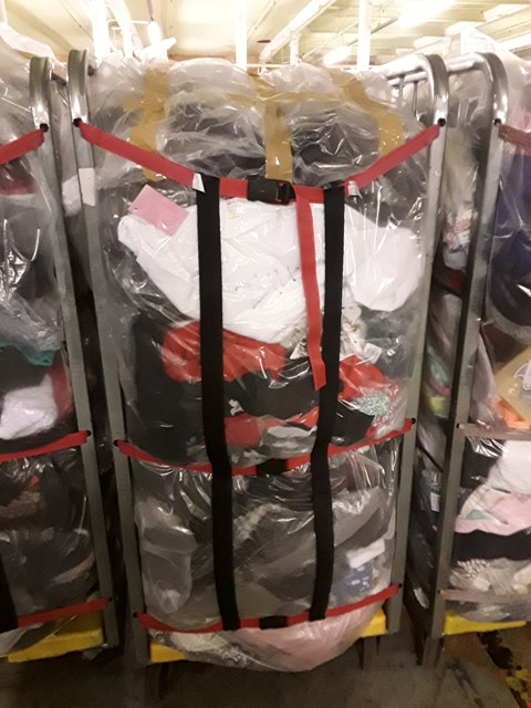 Lot 244 CAGE OF UNPROCESSED ADULT DESIGNER CLOTHING (CAGE NOT INCLUDED)