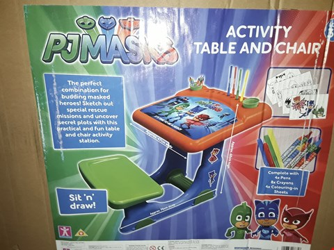 Lot 3368 PJ MASKS ACTIVITY DESK AND CHAIR RRP £51.00