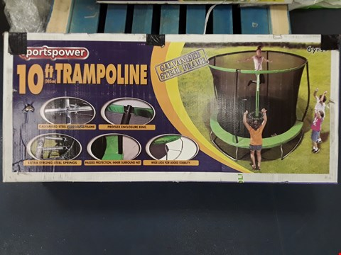 Lot 46 BOXED SPORTSPOWER 10 FT TRAMPOLINE