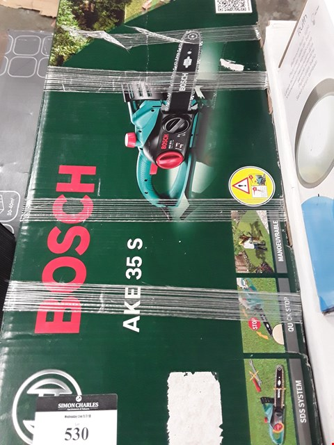 Lot 530 BOSCH AKE 35S CHAINSAW RRP £95