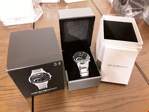 Lot 297 BOXED EMPORIO ARMANI CONNECTED WRIST WATCH