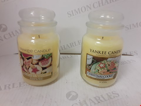Lot 840 YANKEE CANDLE SET OF 2 JAR CANDLES- CHRISTMAS COOKIE AND CHRISTMAS WISH