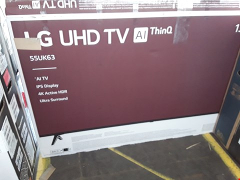 "Lot 1049 LG 55"" UHD 4K HDR SMART LED TELEVISION MODEL 55UK6300PLB RRP £1200.00"