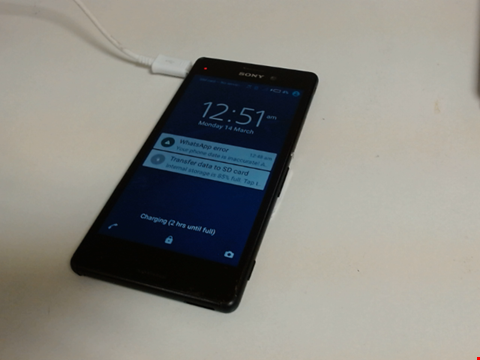 Lot 5095 SONY XPERIA UNKNOWN MODEL AND CAPACITY ANDROID SMART PHONE