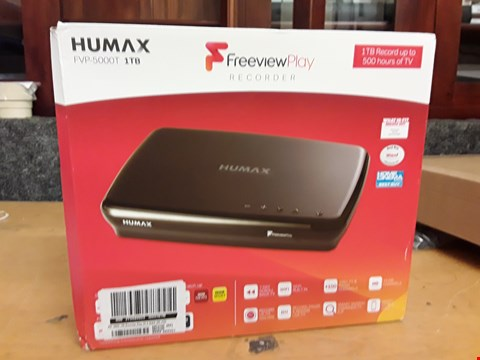 Lot 69 HUMAX FVP-5000T 1TP FREEVIEW PLAY RECORDER RRP £260