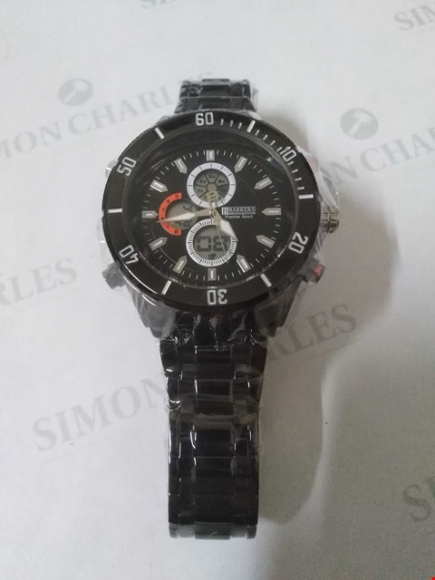 Lot 18 BRAND NEW BOXED BARKERS OF KENSINGTON PREMIER SPORT BLACK WRIST WATCH RRP £505.00