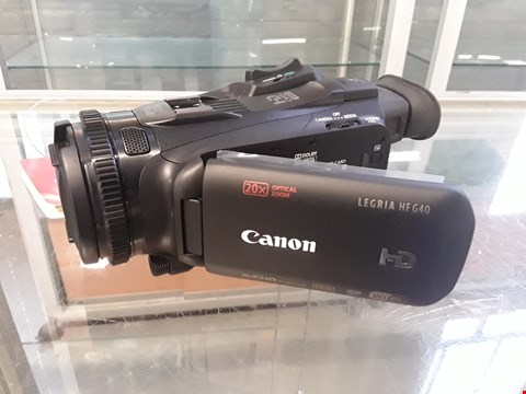 Lot 27  CANON LEGRIA HF G40 DIGITAL VIDEO CAMERA