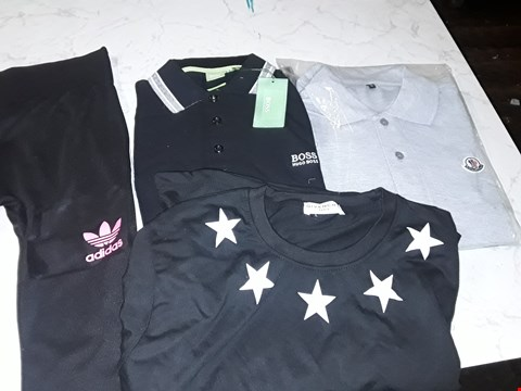 Lot 604 AN ASSORTMENT OF CLOTHING ITEMS TO INCLUDE ADIDAS, HUGO BOSS STYLE, MONSTER STYLE AND GIVENCHY STYLE T-SHIRT