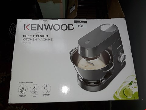 Lot 7145 BOXED KENWOOD CHEF TITANIUM KITCHEN MACHINE