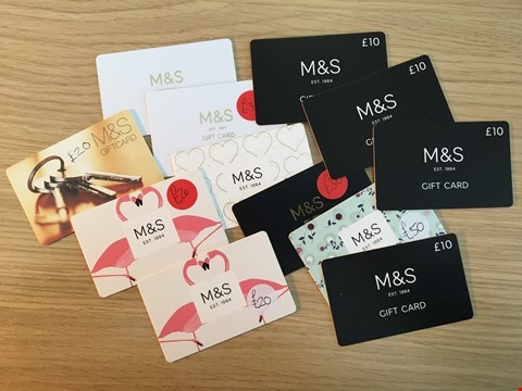 Lot 5 12 MARKS AND SPENCER VOUCHERS.  TOTAL VALUE £250