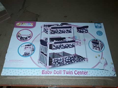 Lot 4372 UNICORN DOLL TWIN PLAY CENTRE  RRP £44.99