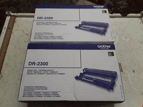 Lot 13954 LOT OF 2 BROTHER DR-2300 DRUM UNITS