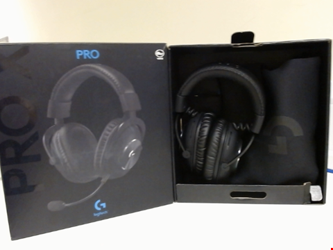 Lot 15207 LOGITECH G PRO X GAMING HEADSET (2ND GENERATION) WITH BLUE VO!CE, DTS HEADPHONE:X 7.1 AND 50 MM PRO-G DRIVERS (FOR PC, PS4, SWITCH, XBOX ONE, VR) - BLACK
