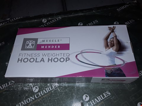 Lot 1448 MUSCLE MENDER WEIGHTED HULA HOOP