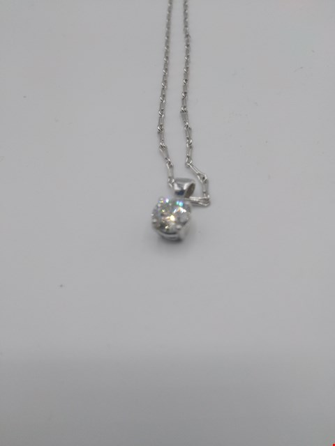 Lot 16 18CT WHITE GOLD PENDANT ON CHAIN SET WITH A DIAMOND WEIGHING 0.52CT RRP £3000.00