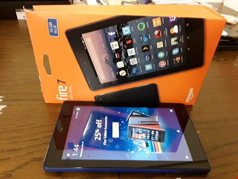 Lot 9178 BOXED AMAZON FIRE 7 WITH ALEXIA 16GB TABLET IN BLUE