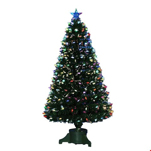 Lot 227 BRAND NEW BOXED 5FT FIBRE OPTIC CHRISTMAS TREE WITH LED CANDLES RRP £70