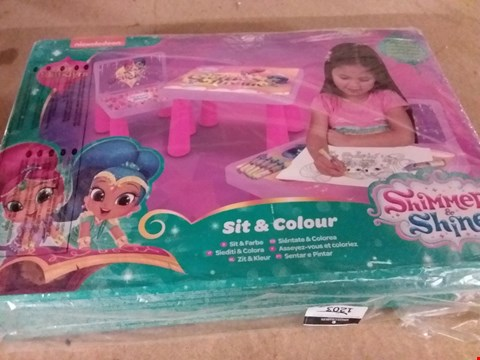 Lot 11567 SHIMMER AND SHINE COLOURING TABLE SET