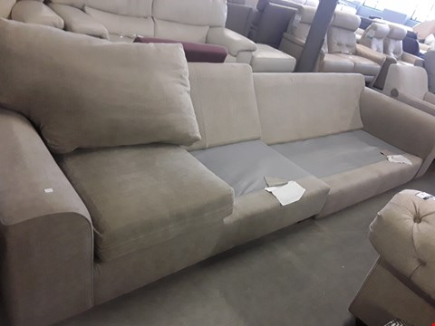 Lot 50 QUALITY BRITISH DESIGNER NANTUCKETT NATURAL FABRIC FOUR SEATER SOFA FRAME