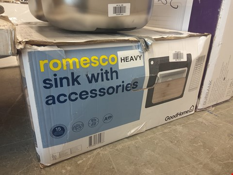 Lot 1045 BOXED ROMESCO SINK WITH ACCESSORIES  RRP £180.00