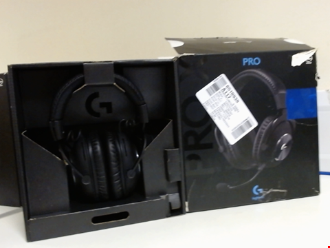 Lot 15089 LOGITECH G PRO X GAMING HEADSET (2ND GENERATION) WITH BLUE VO!CE, DTS HEADPHONE:X 7.1 AND 50 MM PRO-G DRIVERS (FOR PC, PS4, SWITCH, XBOX ONE, VR) - BLACK
