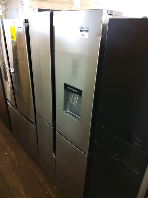 Lot 7062 HISENSE STAINLESS STEEL FRENCH STYLE FRIDGE FREEZER - 79.4 CM - 431 LITRE RQ560N4WC1 RRP £679.00
