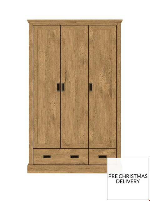 Lot 3574 BOXED CLIFTON OAK 3DOOR 2 DRAWER WARDROBE (2 BOXES)