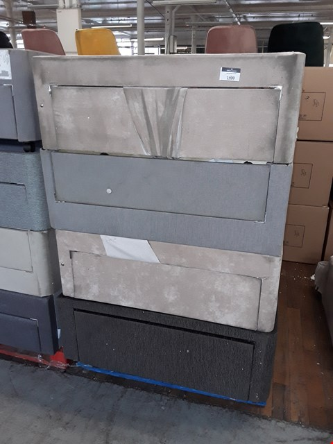 Lot 1400 PALLET OF 4 ASSORTED FABRIC DIVAN BED BASES