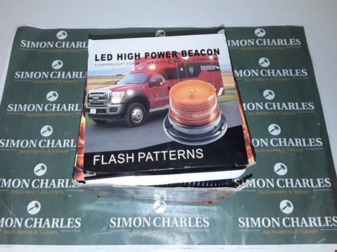 Lot 4015 AMBER LED HIGH POWER BEACON