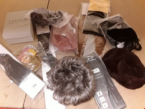 Lot 9028 APPROXIMATELY 12 ASSORTED HAIR EXTENSIONS & WIGS