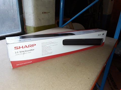 Lot 2021 BOXED GRADE 1 SHARP 2.0 SLIM SOUNDBAR