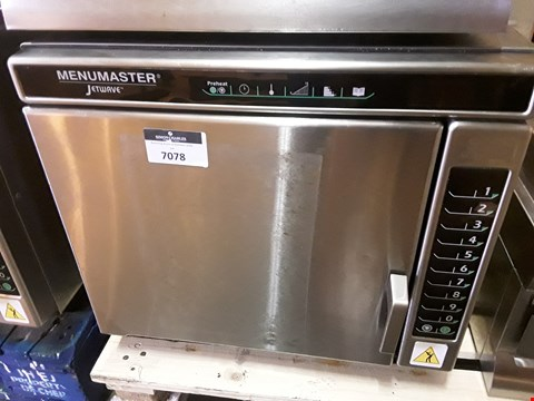 Lot 7078 MENUMASTER JETWAVE HIGH SPEED COMBINATION MICROWAVE/OVEN