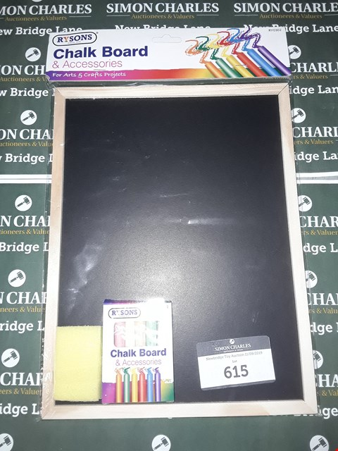 Lot 615 LOT OF 7 ASSORTED CHALKBOARDS (6 WITH ACCESSORIES)