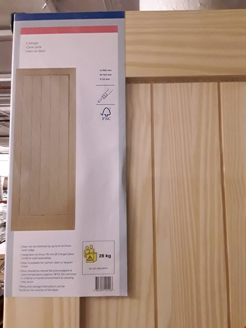 Lot 3159 COTTAGE CLEAR PINE INTERNAL DOOR H1981 X W762 X D35 MM