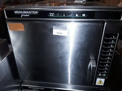 Lot 7024 MENUMASTER JETWAVE HIGH SPEED COMBINATION MICROWAVE/OVEN
