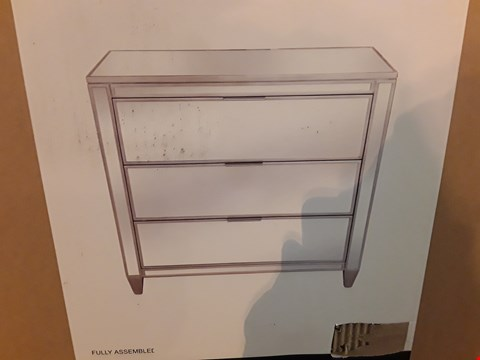 Lot 545 BOXED MIRRORED 3-DRAWER CHEST