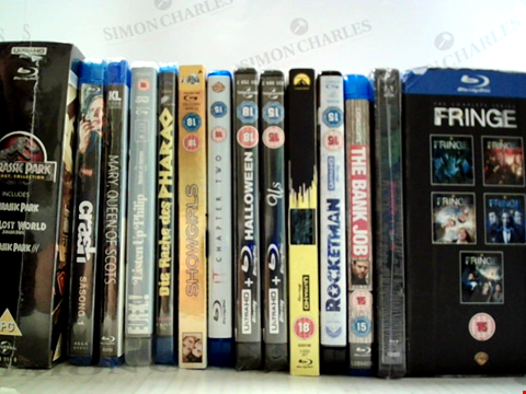 Lot 7244 LOT OF APPROXIMATELY 14 ASSORTED BLU-RAYS TO INCLUDE; HALLOWEEN, ROCKETMAN ETC