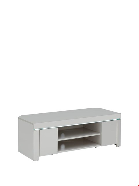 Lot 755 BOXED ATLANTIC LED CORNER TV UNIT GREY (1 BOX)  RRP £219