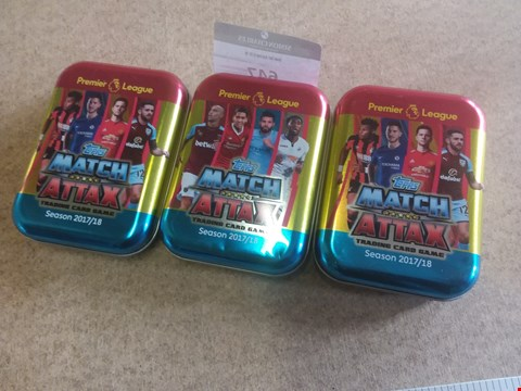 Lot 647 3 BRAND NEW MATCH ATTAX TRADING CARD GAMES