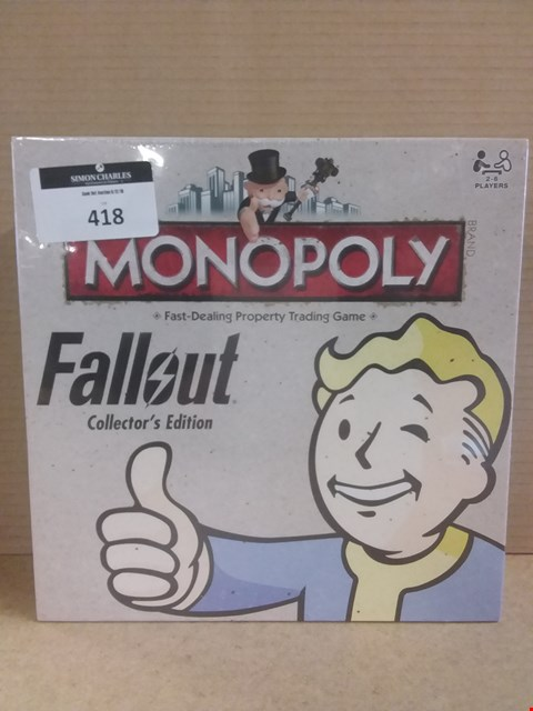 Lot 418 BRAND NEW BOXED MONOPOLY FAST-DEALING PROPERTY TRADING GAME FALLOUT COLLECTORS EDITION