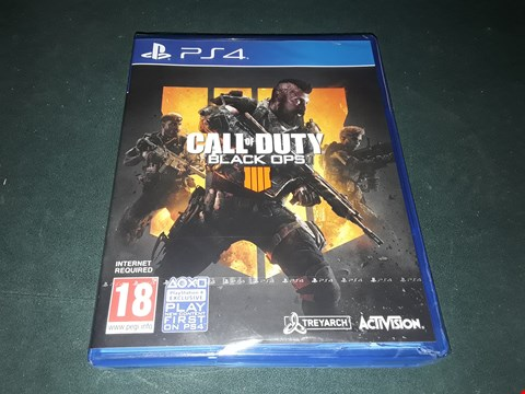 Lot 7009 BOXED CALL OF DUTY BLACK OPS 4 FOR PS4 RRP £55