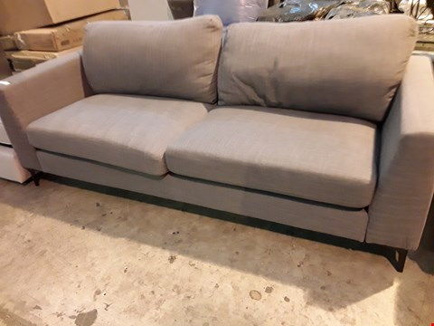 Lot 562 DRSIGNER GREY THREE SEATER FIXED SOFA
