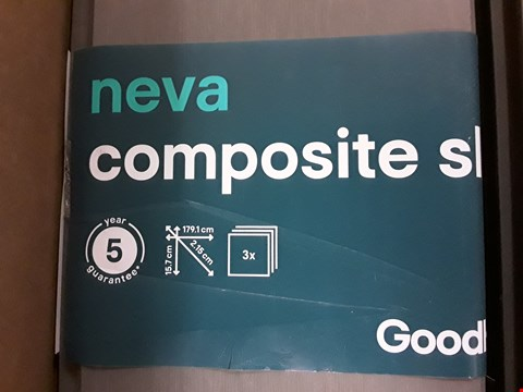 Lot 80 TWO PACKS OF NEVA COMPOSITE FENCING SLATS (3 BOARDS PER PACK)