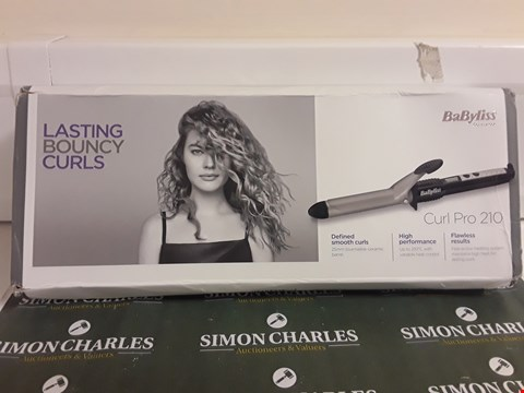 Lot 1596 BABYLISS CURL PRO 210 HAIR STYLER
