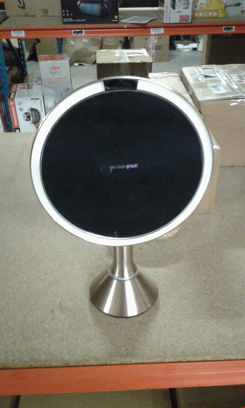Lot 12 BOXED SIMPLY HUMAN SENSOR MIRROR WITH 5X MAGNIFICATION