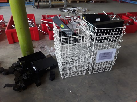 Lot 2011 APPROXIMATELY 10 WIRED METAL DISPLAY BASKETS AND PLASTIC FEET
