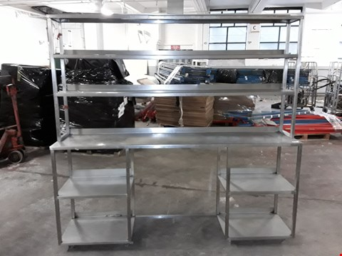 Lot 180002 STAINLESS STEEL 3 TIER SHELVING UNIT