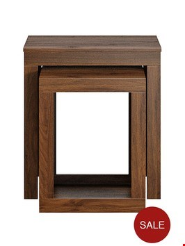 Lot 160 BOXED JAKARTA NEST OF TABLES IN WALNUT  RRP £129.00