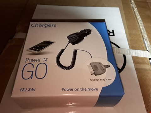 Lot 263 BOX OF APPROXIMATELY 150 PLUG 'N' GO POWER IN CAR CHARGERS